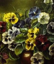 Garden violets. Sold