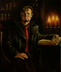 Man with Candles and Book