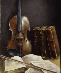 Still life with a Violin. Sold