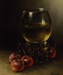 Still Life with Cherries. Sold