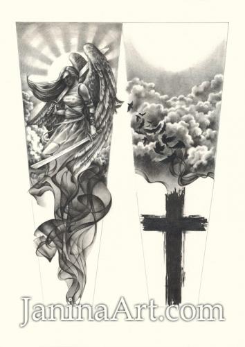 Выполненный под заказ рисунок для татуировки