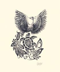 Pēc pasūtījuma zīmētais zīmējums tetovējumam. Grafītzīmuļi, papīrs