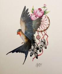 Pēc pasūtījuma taisītais tetovējuma zīmējums
