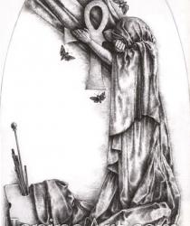 Zīmējums kapa piemineklim