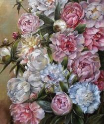 Peonijas baltā un rozā (sākotnējā versija)