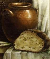 Klusā daba ar maizi