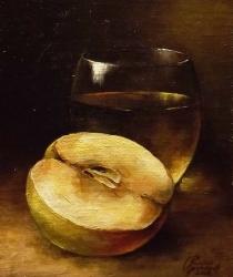 Klusā daba ar ābolu. Pārdots