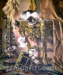 Копия с репродукции картины старого мастера. Продано