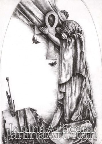 Рисунок для надгробия