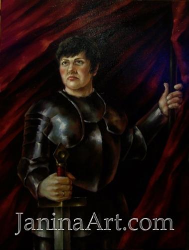 Елена в образе Жанны Д''Aрк