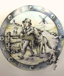 Иллюстрация к латышской народной сказке