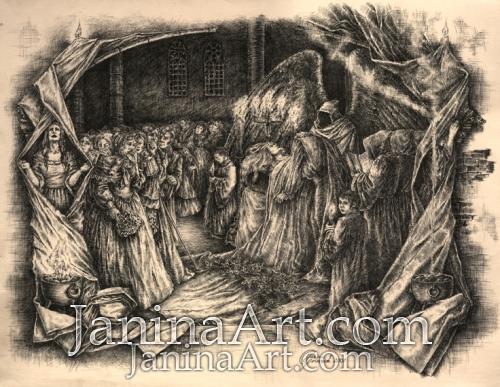 Иллюстрация к поэме Эдгара По