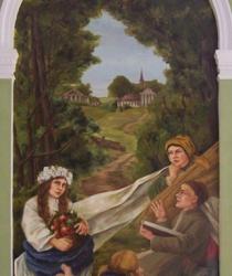 Фреска в зале заседаний Центральной сельскохозяйственной библиотеке Варшавы, Польша. Собственность ЦСХБ