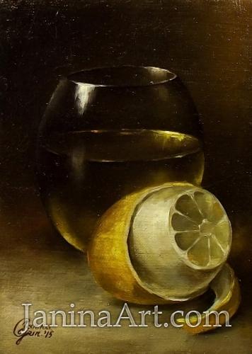 Натюрморт с лимоном. Продано