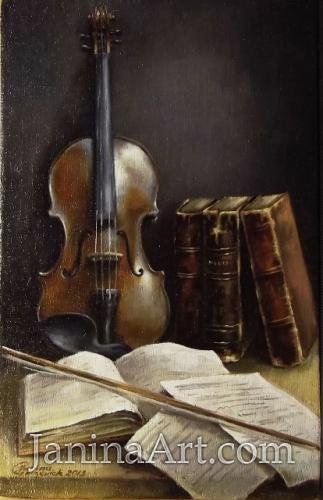 Натюрморт со скрипкой. Продано