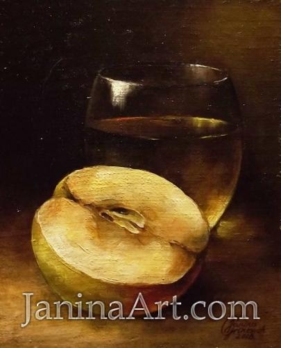 Натюрморт с яблоком. Продано